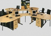 Meja Staff 6 Orang